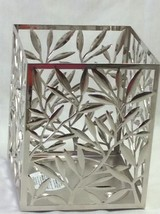 Bath and Body Works Candle Holder, Metal Square Silver Tone For 3- Wick Candles. - $13.00