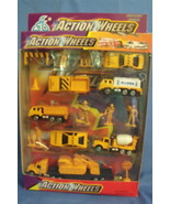 Toys Action Wheels NIB Road Construction Die Cast Metal Play Set 16 pieces - $8.95