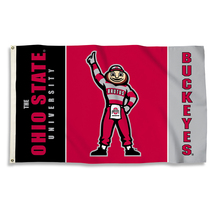 Ohio State Buckeyes Brutus 3'x5' Flag with Grommets  - $35.95