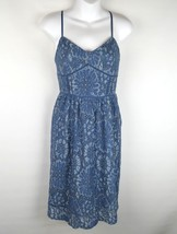 LOFT Ann Taylor 4p Blue Lace Dress Size 4P - $15.00