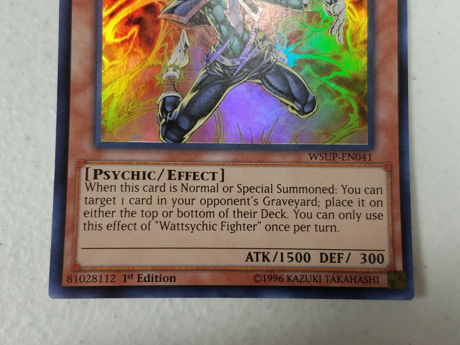 Yu-gi-oh! Trading Card - Wattsychic Fighter x2 - WSUP-EN041 - Super Rare 1st Ed.