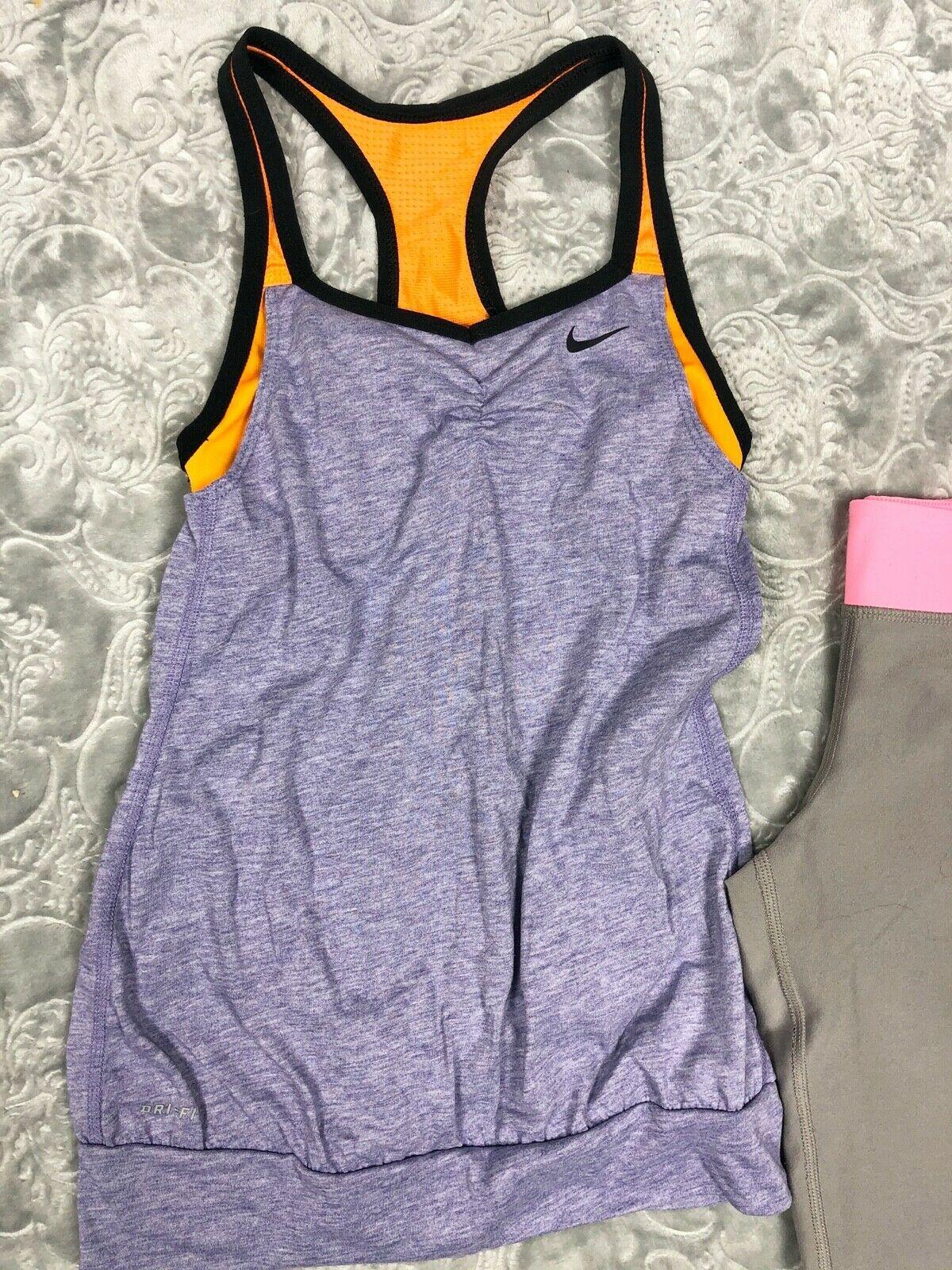 NIKE TANK TOP + TEMPO RUNNING SHORTS + CAPRI LEGGINGS OUTFIT LOT GIRL'S M image 3