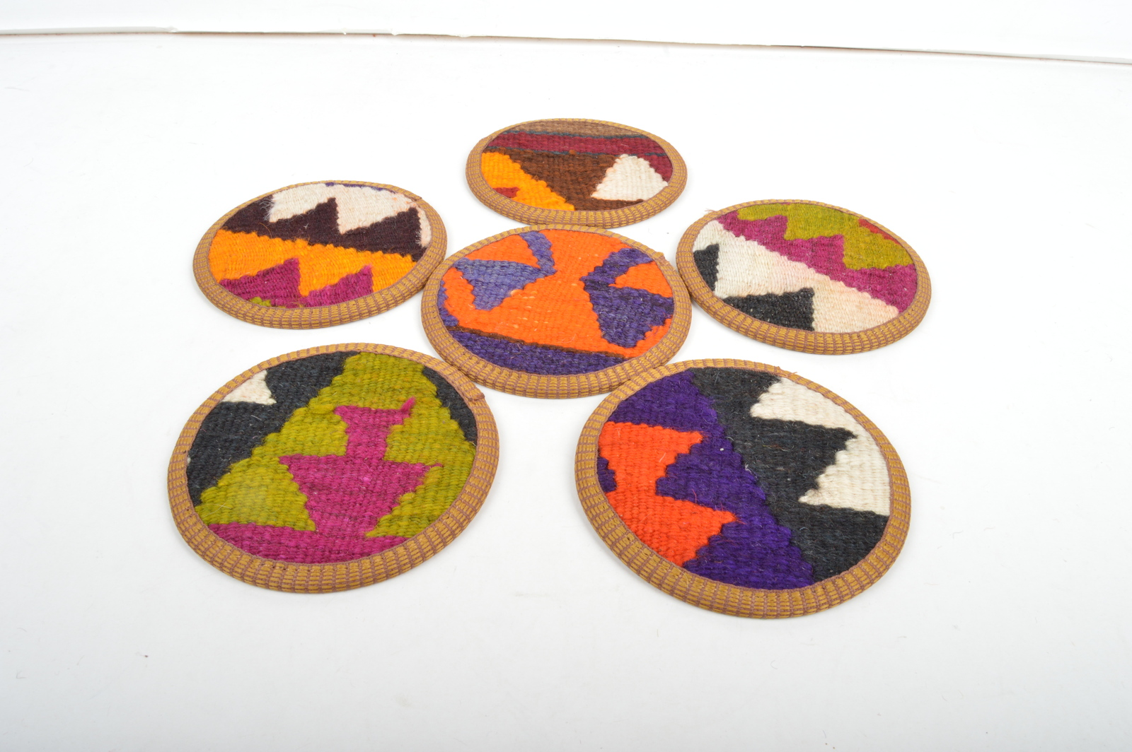 natural colors,beverage coaster,kilim coasters.rug coaster,coasters,wool coaster - $29.00