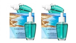 4 Bath & Body Works Turquoise Waters Wallflower Home Fragrance Refill Bulbs - $21.50