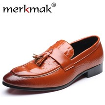 Tassel Loafers New Merkmak Men Shoes Moccasins Sl Fashion Casual Genuine Leather qEpSa