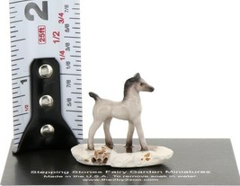 Hagen Reanker Miniature Horse Tiny Gray Colt on Base Stepping Stones #2744 image 2