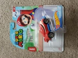 Hot Wheels Super Mario Character Cars Mario 1/8 Die-Cast Car Nintendo Mattel - $7.92