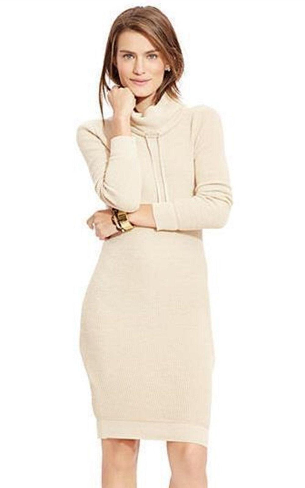 LRL Lauren Jeans Co. by Ralph Lauren Cotton Knit Women's Sweater Dress Small