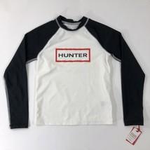 Hunter For Target Youth Kids Swim Shirt Long Sleeve Black White Logo UPF 50 MD - $39.59