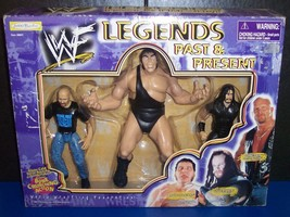 1998 Jakk's Pacific Legends Past & Present 3 pk Action Figure Set WWF WW... - $54.03