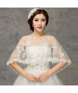 Princessally New Simple Wedding Wrap Lace Sequined Elegant Evening Capes... - £22.12 GBP