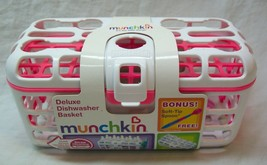 Munchkin DELUXE DISHWASHER BASKET White and Pink BONUS SPOON NEW - $14.85