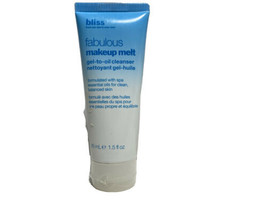 Bliss Fabulous Makeup Remover Melt Gel To Oil Cleanser With Essential Oi... - $13.37