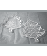 Christmas Tree shaped glass candy dish set of 2 - $10.00