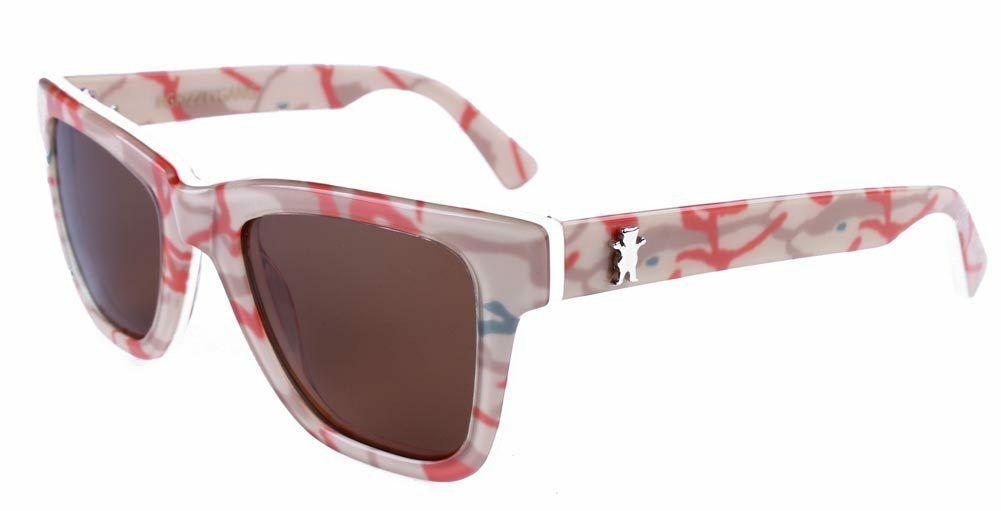 Grizzly Griptape Bear Rivets Tan Branch Camo Polarized Sunglasses New in Box