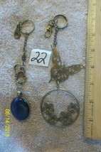 # purse jewelry bronze color keychain backpack filigree charms floral 22 - $6.23
