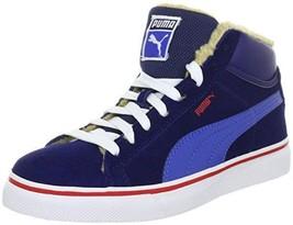 Puma Mid Vulc Fur Winter Blue Olympian Red sneakers size US 6.5, 7, 8.5 - $49.99