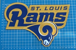 "ST. LOUIS RAMS FOOTBALL NFL SUPERBOWL LOGO PATCH HUGE 9"" JERSEY EMBROIDERED - $25.00"