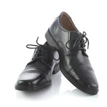 Clarks Collection Black Leather Cap Toe Derby Oxfords Dress Shoes Mens 7... - $34.46