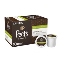 Peet's Coffee House Blend Decaf 60 K-Cup Pods Free Shipping - $37.39