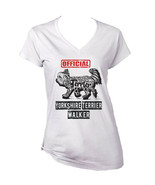 Yorkshire terrier 2 - official walker b - NEW WHITE COTTON LADY TSHIRT - $19.53