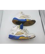 NIKE AIR JORDAN V 5 RETRO LANEY BUCS WHITE ROYAL BLUE YELLOW OG 136027-1... - $89.09