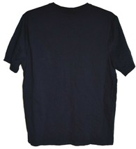 Boohoo Man boohooMAN Navy Blue Embroidered Crew Neck T-Shirt Size L image 2