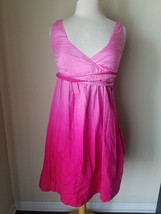 Tommy Hilfiger Women's Dress Pink Ombre Silk Blend Sundress Empire Waist XS - €23,38 EUR