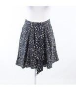 Black white geometric 100% silk ANTHROPOLOGIE pleated skirt 2 - $34.99