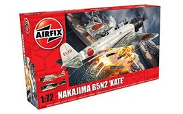 Airfix 1:72nd Scale WWII Nakajima B5N2 'Kate' Plastic Model Kit - $31.00