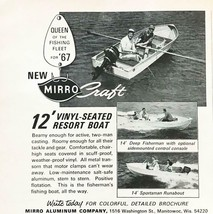 1967 MirroCraft Aluminum Fishing & Leisure Boats Print Ad 12 ft Resort Boat - $7.64
