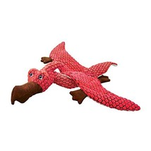 KONG - Dynos Pterodactyl Coral - Dinosaur Squeak Dog Toy, Reinforced Lin... - £20.99 GBP