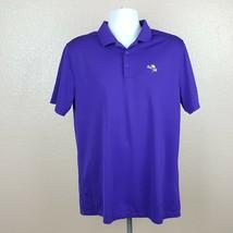 Nike Golf Men's Polo Dri-fit Size L Purple Short Sleeve RF21 - $8.41