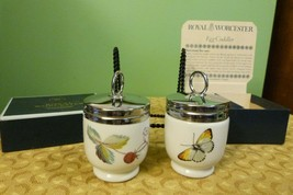 Royal Worcester Egg Coddlers - Butterfly & Berrie - Made In England Oirg... - $74.20