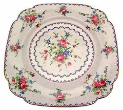 Royal Albert Petit Point 8.75 Inch Square Plate 2nds Quality - $25.57