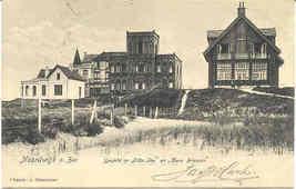 Noordwijk Villa Tise en Haus Briessen vintage Post Card - $6.00