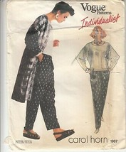 Vogue 1907 Individualist Coat Pants Top Carol Horn Sewing Pattern - $18.80