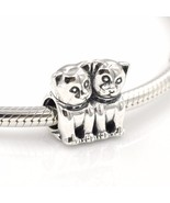 Authentic Lovely Cat Perfect Together Charm Beads 100% sterling silver F... - $23.99