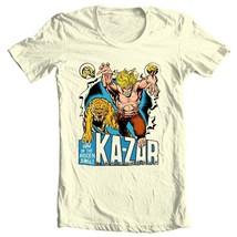 Ka-Zar Lord of the Hidden Jungle T shirt retro 1970's Marvel Comics graphic tee image 1