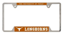 Texas Longhorns Heavy Duty Chrome Metal License Plate Frame - $13.95