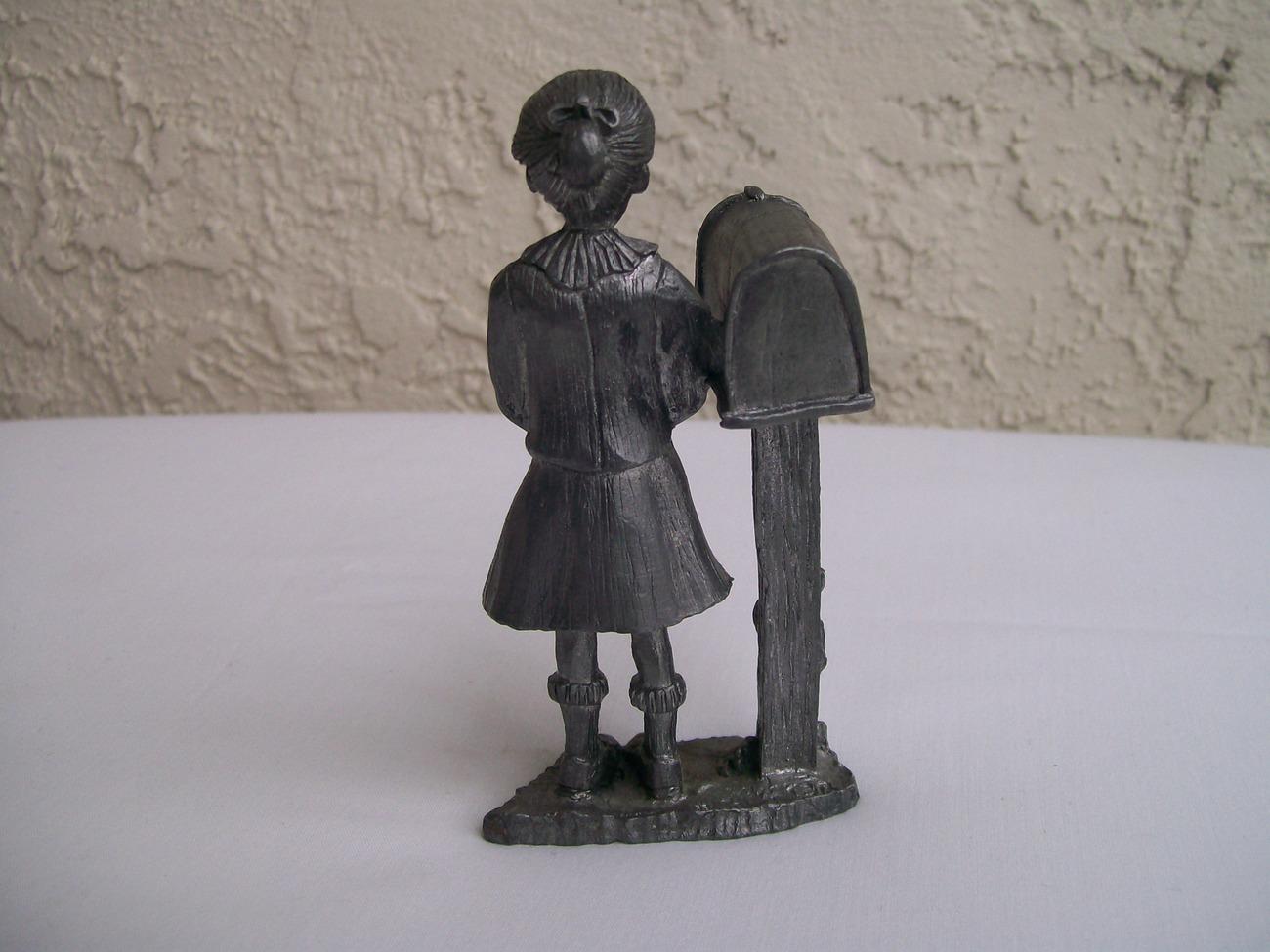 Michael Ricker Bartlett Collector's Society  Pewter Figure Girl 1984