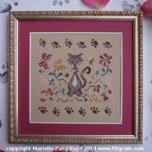A Cat In The Garden Cat Collection cross stitch chart Filigram - $7.20