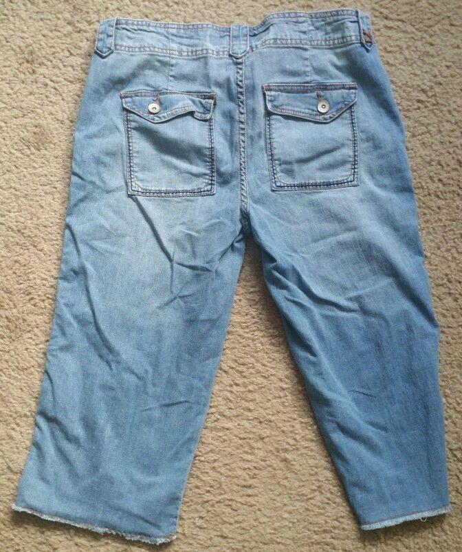 Mossimo Denim Jeans Low Rise Boyfriend Cropped 100% Cotton Jr. Size 13