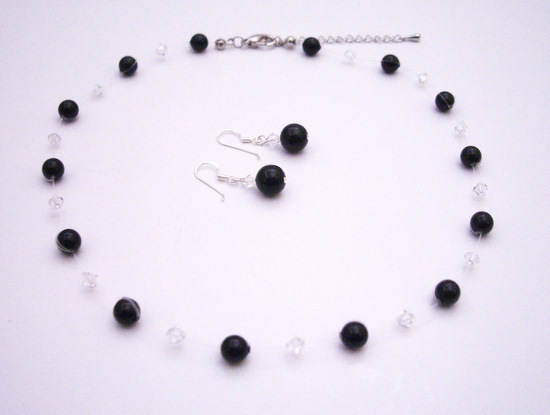 Latest Fashion Jewelry Black Pearls & Clear Crystals Bridesmaid Gifts Fashion Jewelry For Everyone Collections