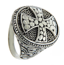 925 Sterling Silver Cross Men Ring Size 8.5 »R13 FREE SHIPPING - $44.50