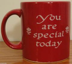 WAECHTERSBACH You Are Special Today Coffee MUG Bright CHERRY RED Glaze G... - $12.00