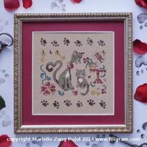 Mother Cat Cat Collection cross stitch chart Filigram - $7.20