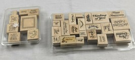 Stampin Up! Great Greetings Rubber Stamp Set 20 Stamps 1992 + Country set 8 1999 - $24.70
