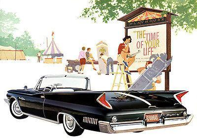 Primary image for 1960 Chrysler New Yorker Convertible Promotional Advertising Poster