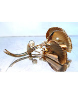Retro Gold Filled Ginkgo leaf Cultured Pearl Brooch signed Lady Alice194... - $38.00